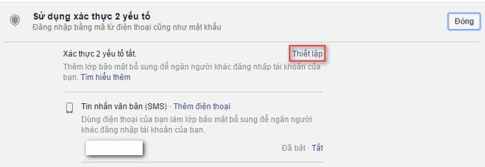 Thiết lập bảo mật 2 lớp cho facebook 4