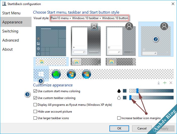 Tùy biến giao diện Windows 10 với StartIsBack 2