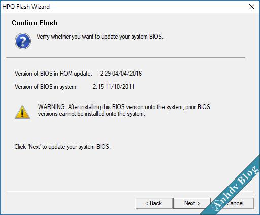 Cập nhật BIOS máy tính HP