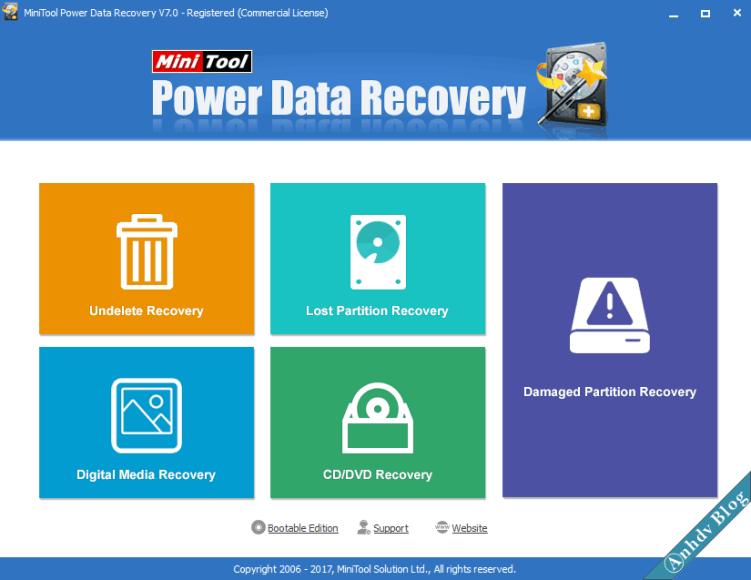 Phần mềm khôi phục dữ liệu Mini Tool Power Data Recovery