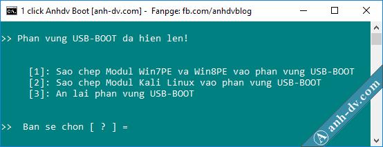 Ẩn phân vùng USB-BOOT của Anhdv Boot