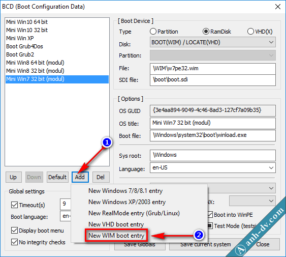 Tích hợp bộ cài Win vào USB cứu hộ Anhdv Boot 1