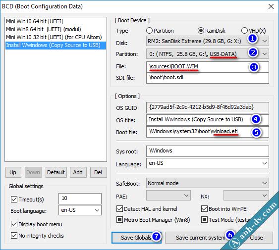Tích hợp bộ cài Win vào USB cứu hộ Anhdv Boot 4