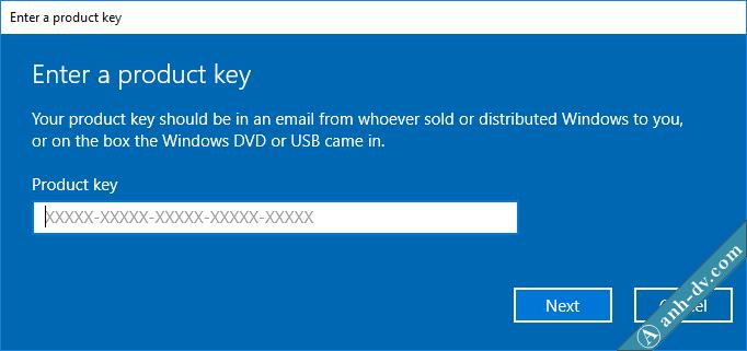 Nhập key online Active Windows