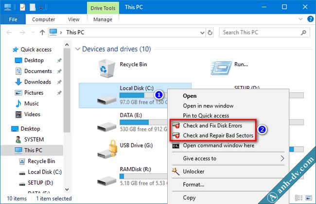 Kiểm tra ổ cứng và sửa lỗi bad sector nhanh với Mini Windows 10 1