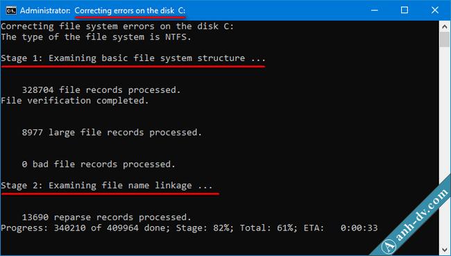 Kiểm tra ổ cứng và sửa lỗi bad sector nhanh với chkdsk 2