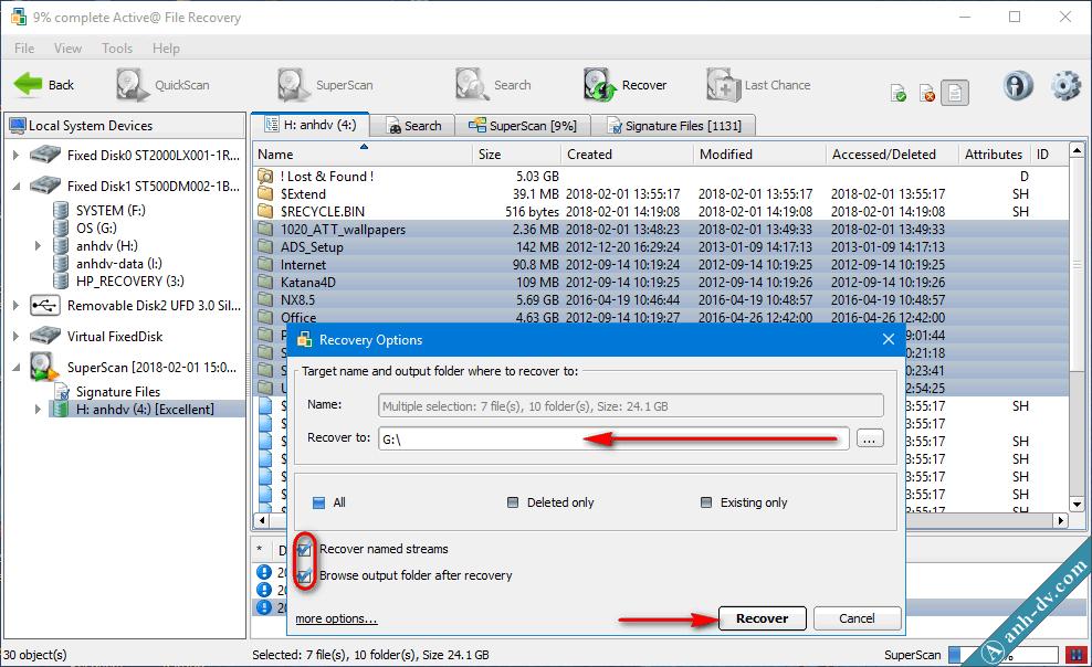 Khôi phục dữ liệu bị mất do format nhầm với Active File Recovery 6
