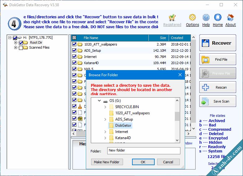 Khôi phục dữ liệu bị mất do Format nhầm với DiskGetor Data Recovery 5