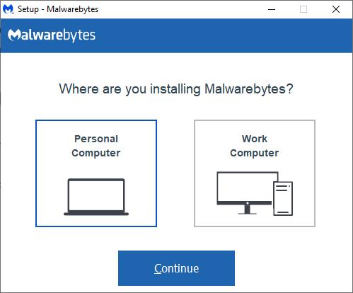 Cài đặt Malwarebytes