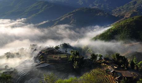 Mây núi Sa Pa đẹp như tranh thủy mặc, Du lịch,