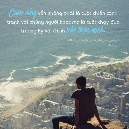 """buoc cham lai giua the gian voi va"" de tan huong y nghia dich thuc cua cuoc song - 2"