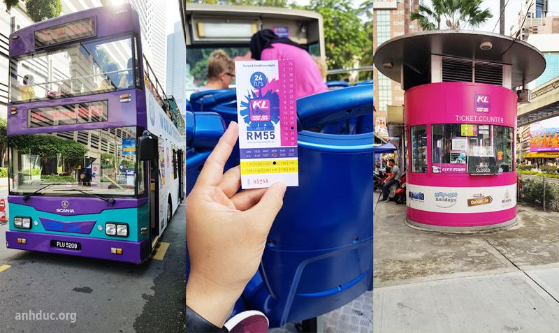 Bus Hop on hop off - Vé cứng - Điểm dừng