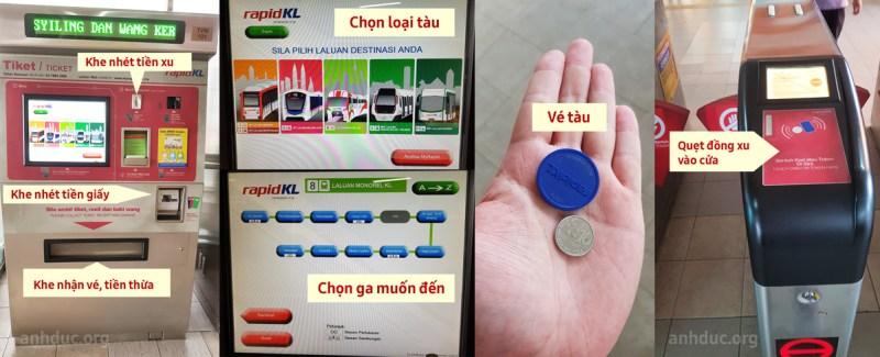 Cách mua vé tàu ở máy bán tự động