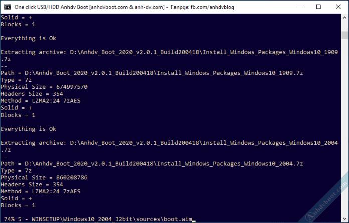 Tích hợp bộ cài Windows vào USB HDD Anhdv Boot 2020