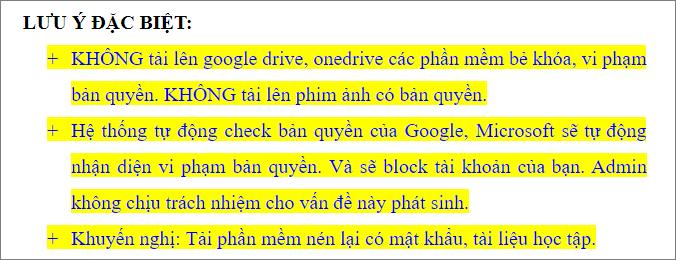 Lưu ý khi sử dụng Google Drive Unlimited Anhdv