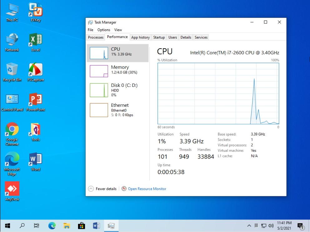 Windows 10 20H2 Pro Anhdv V3 AIO 2in1 chiếm RAM và CPU