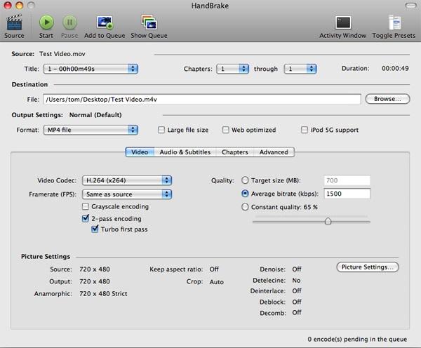 Handbrake: Loại bỏ âm thanh ra khỏi file Video