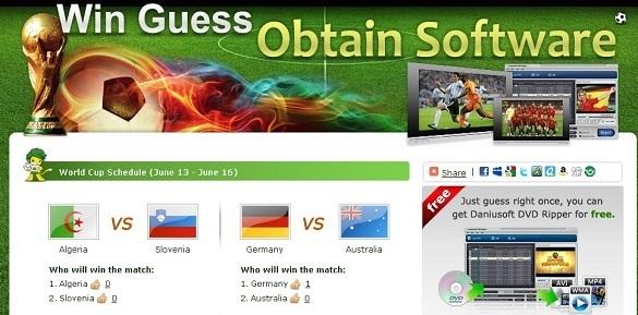 Worldcup 2010 - Du doan ket qua trung key ban quyen Danuisoft DVD Ripper
