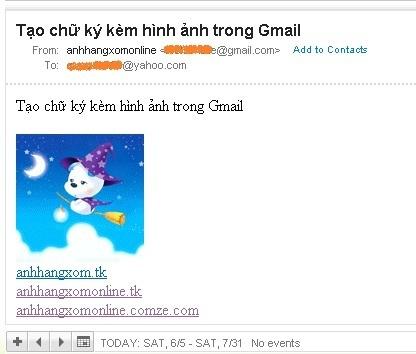 Tao chu ky kem hinh anh trong Gmail