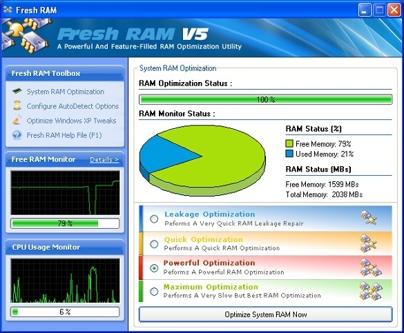 Fresh RAM 5 - Nhan key ban quyen mien phi