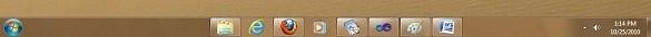 Canh giữa biểu tượng trên thanh Taskbar