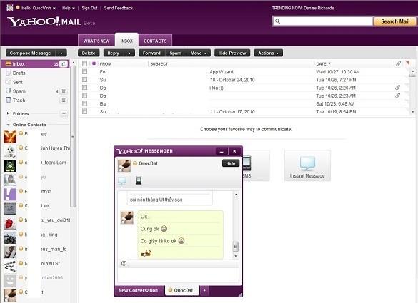 Xài thử giao diện mới của Yahoo!Mail