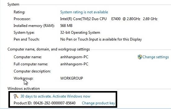 Xài thử Windows 7 trong 4 tháng