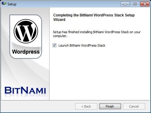 BitNami - Set up WordPress on local computer