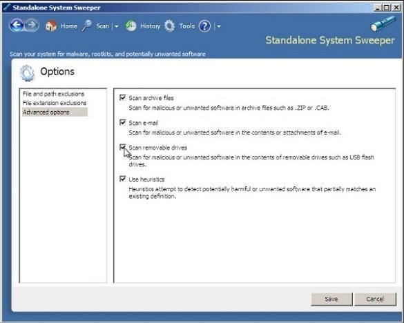 Microsoft Standalone System Sweeper Tool - Công cụ quét virus độc lập dành cho máy tính bị nhiễm virus