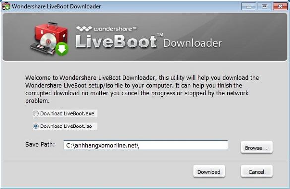 Wondershare Live Boot 2012 - Nhận key bản quyền  miễn phí