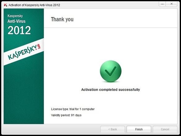Kaspersky Antivirus 2012 - Nhận key bản quyền 3 tháng miễn phí