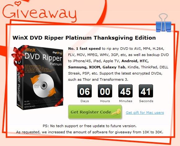 WinX DVD Ripper Platinum - Nhận key bản quyền miễn phí