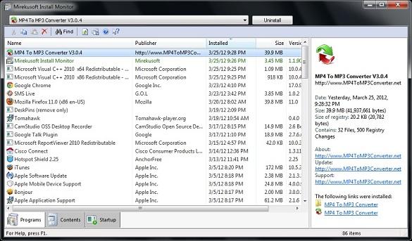 Mirekusoft Install Monitor - Theo dõi quá trình cài đặt phần mềm