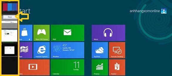 Làm thế nào để...đóng một ứng dụng trong Windows 8