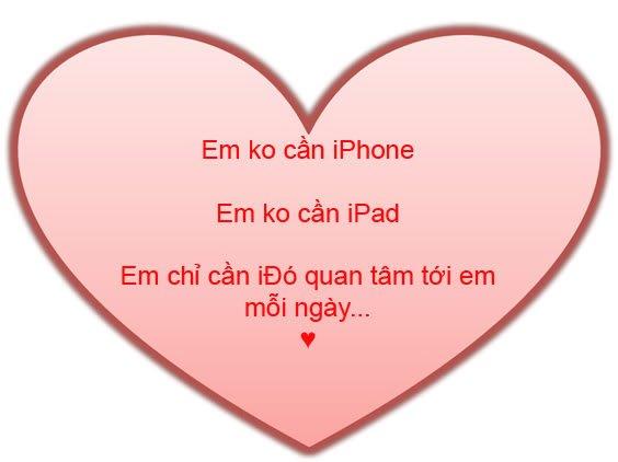 Em không cần iPhone, Em không cần iPad