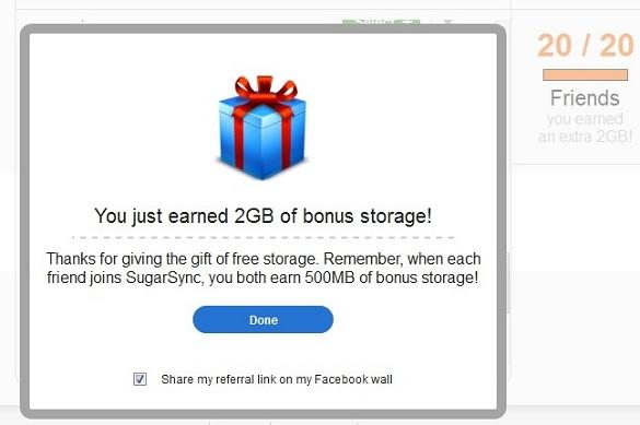 Nhận 2GB dung lượng lưu trữ tại SugarSync trong thời gian giới hạn