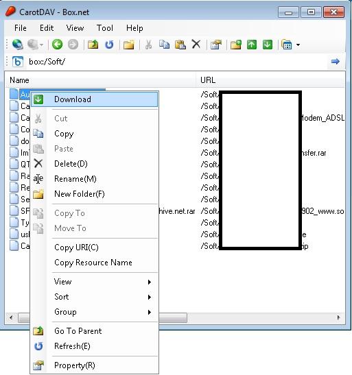 CarotDAV - Dropbox, SugarSync, Box, GoogleDrive, SkyDrive...qui về một mối