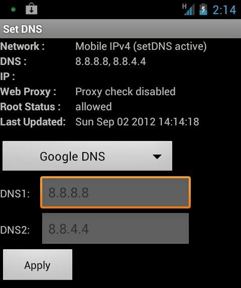 Set DNS - Đổi DNS cho điện thoại Android