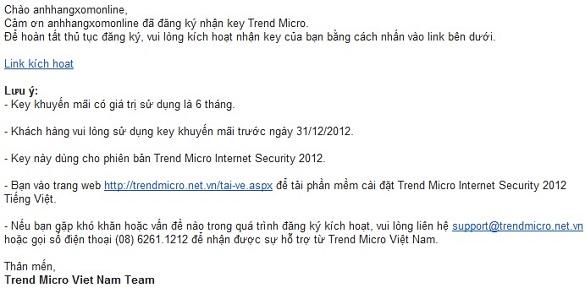 Trend Micro Internet Security 2012 - Nhận key bản quyền miễn phí nhân dịp quốc khánh 2/9