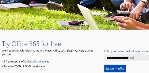 Nhận 27GB SkyDrive, 60 phút Skype và 3 tháng xài thử Office 365