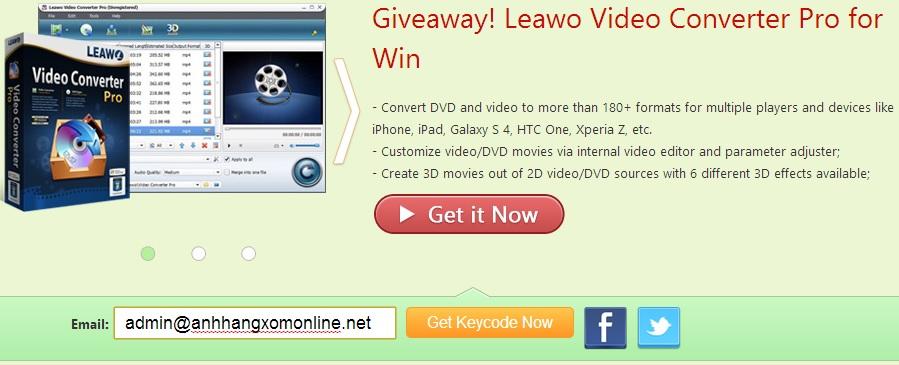 Leawo Video Converter Pro - Nhận key bản quyền miễn phí