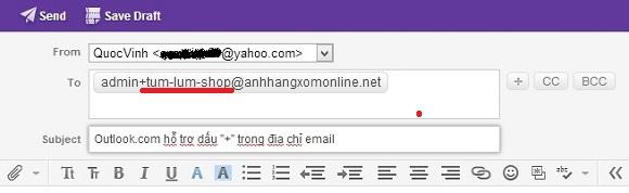 Outlook.com hỗ trợ dấu