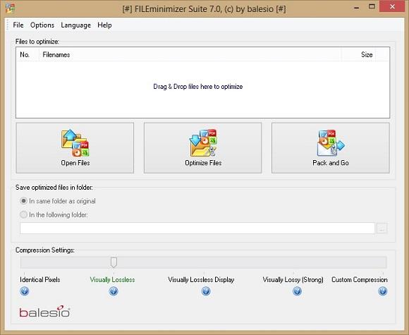 Bản quyền miễn phí trọn bộ phần mềm giảm dung lượng FILEminimizer