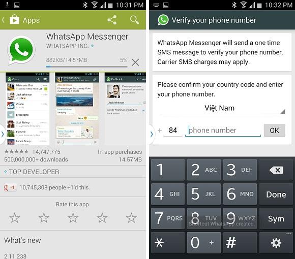 Xài 2 tài khoản WhatsApp trên cùng một điện thoại