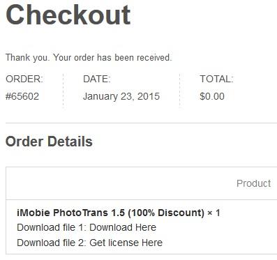 iMobie PhotoTrans 1.5 - Nhận key bản quyền miễn phí