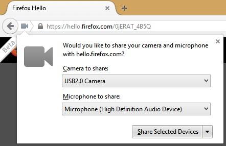 Gọi thoại và video với Firefox Hello