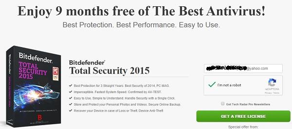 BitDefender Total Security 2015 - 9 tháng bản quyền miễn phí