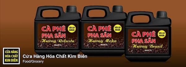 Cửa hàng cà phê hoá chất kim biên