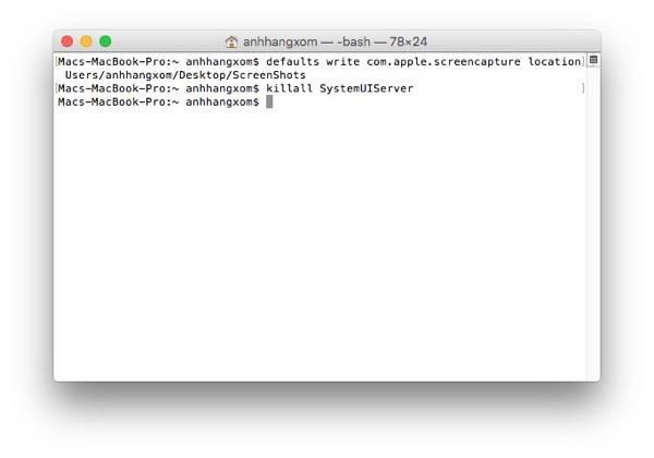 Thay đổi thư mục lưu trữ ảnh chụp màn hình của MacOS