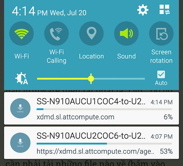 How to force stop a running download on Android 6 ?